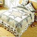 Millenium Star Cotton Patchwork Quilt Set (King and Twin)