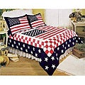 Stars and Stripes Patchwork Quilt Set