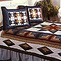 Carpenters Star Cotton Patchwork Quilt Set