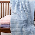 Hastings Collection Pastel Faux Fur Throw