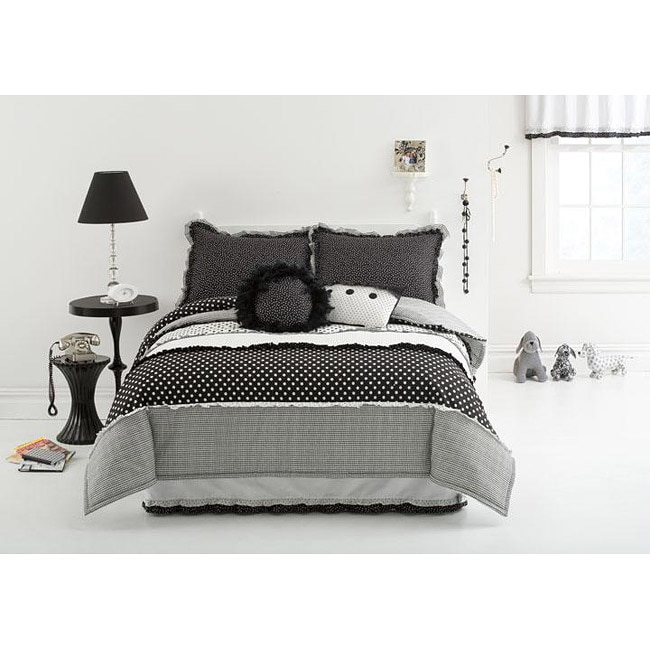 Dots and Pepper 3-piece Mini Comforter Set - Thumbnail 0