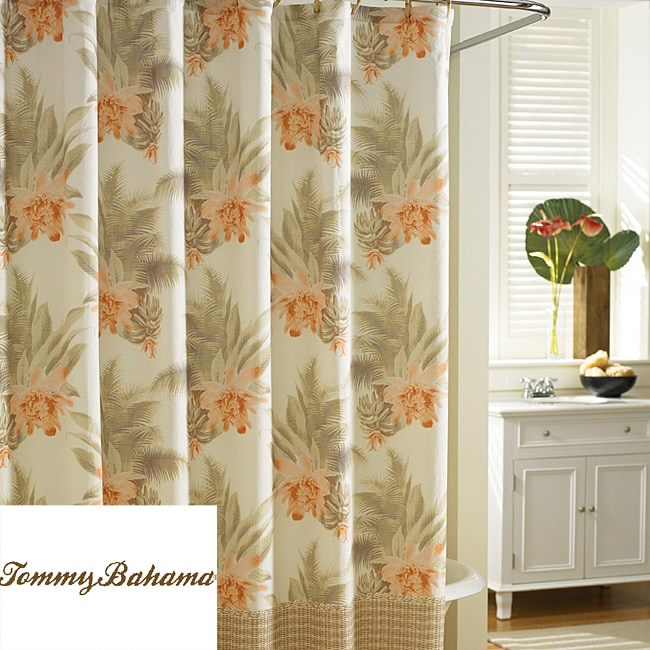 Tommy Bahama Wicker Floral Cotton Shower Curtain Free Shipping On Orders Over 45 Overstock