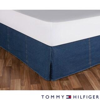 Tommy Hilfiger All American Cotton Denim Bedskirt