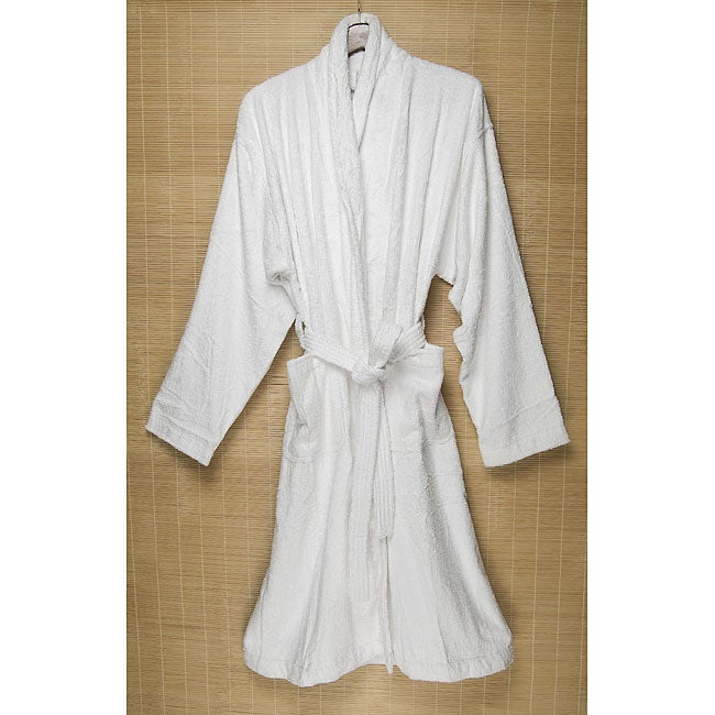 Shop White Rayon from Bamboo Bath Robe - Free Shipping Today - Overstock -  3994848 75754f115