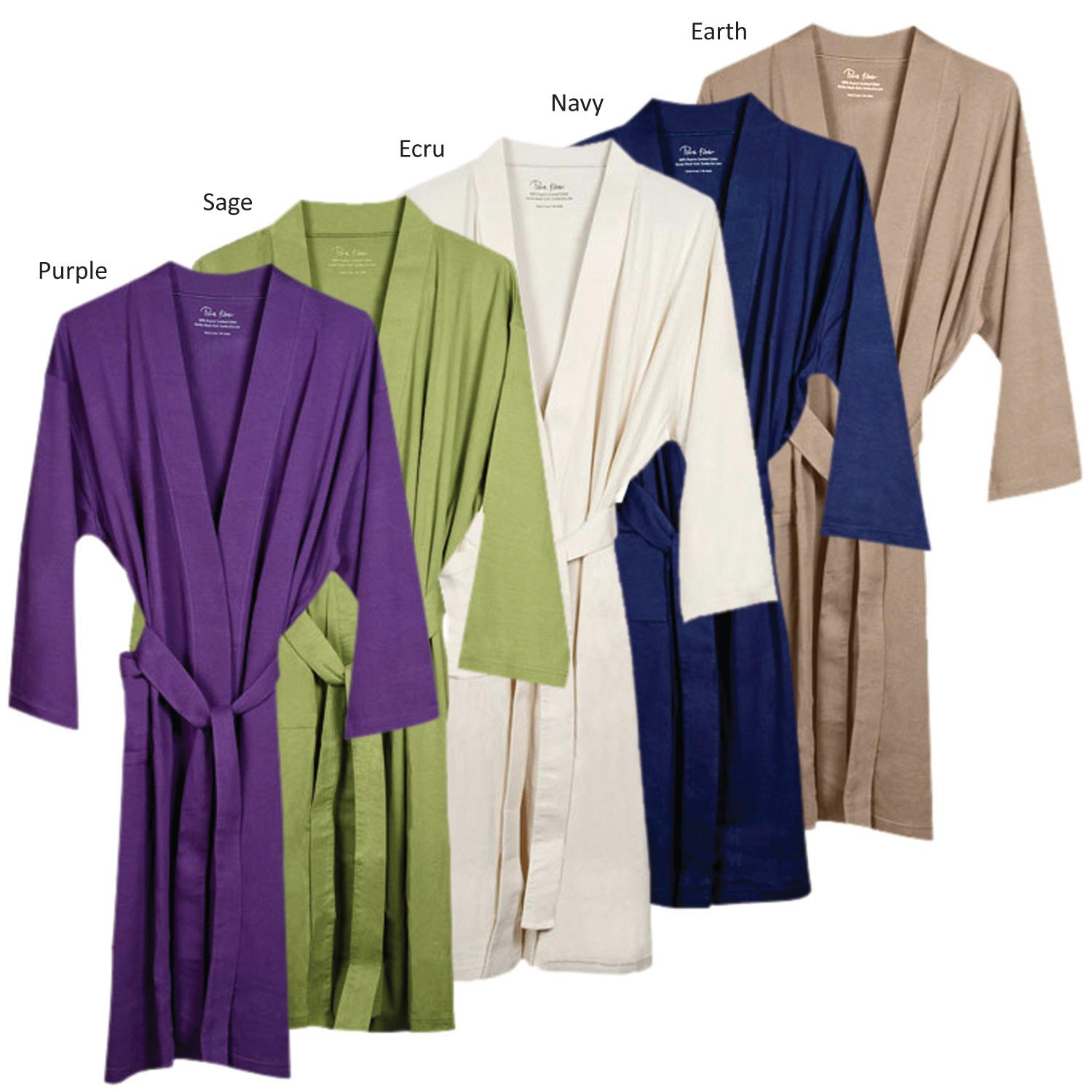 Women S Ecru Organic Cotton Bath Robe Free Shipping