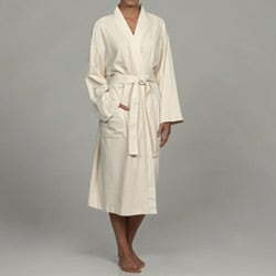 Women's Ecru Organic Cotton Bath Robe