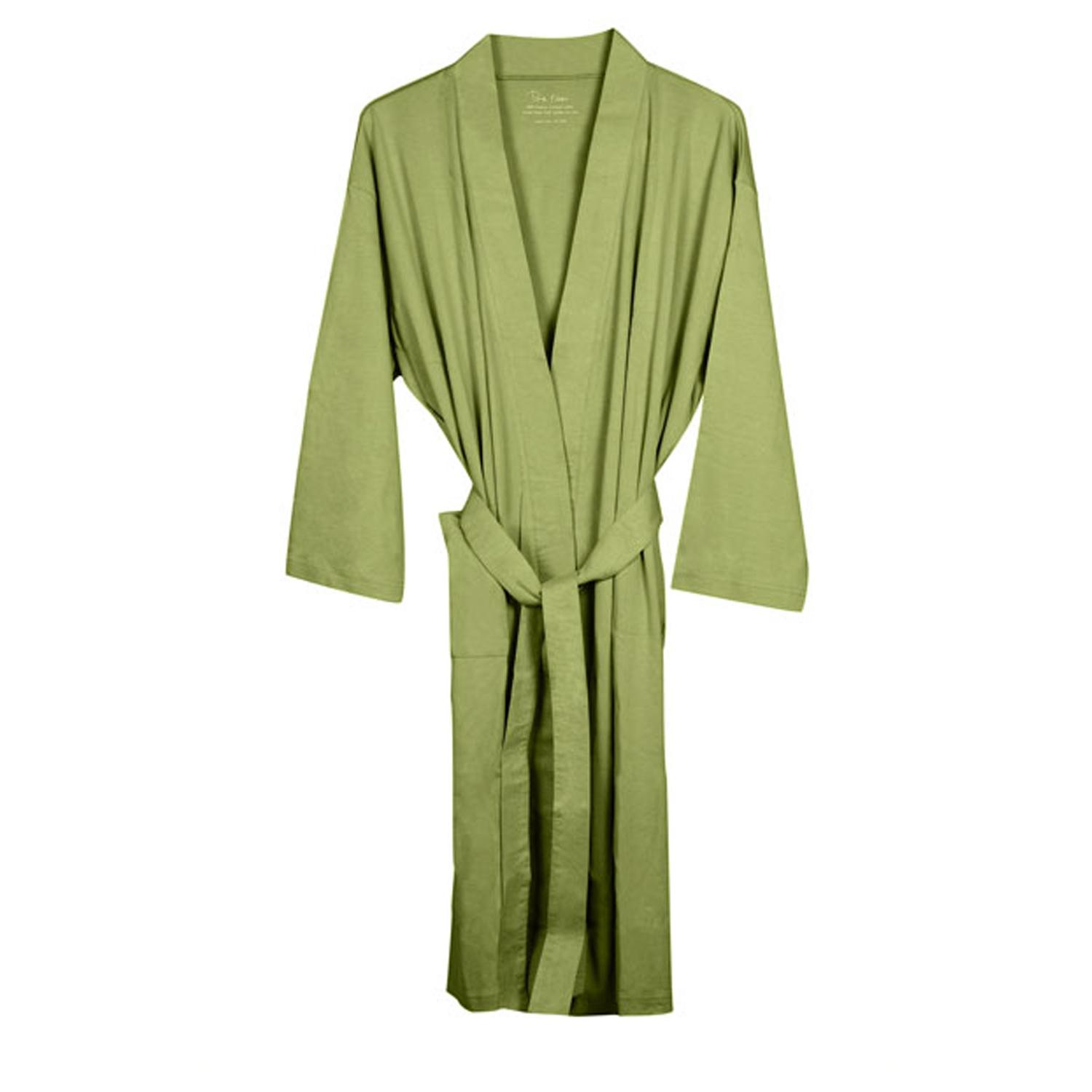 Womens Sage Organic Cotton Bath Robe - Free Shipping -8293
