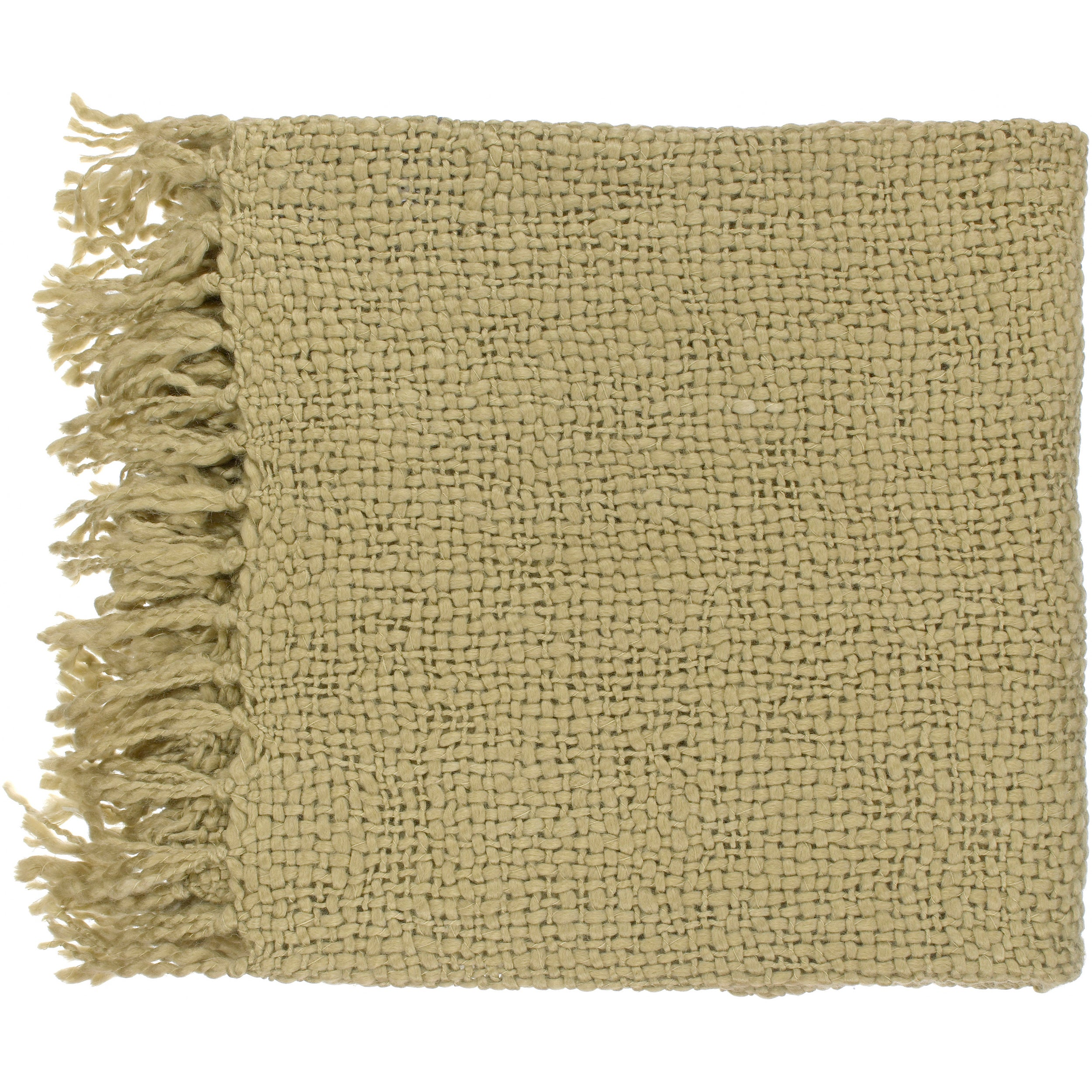 Woven Berk Acrylic and Wool Throw Blanket