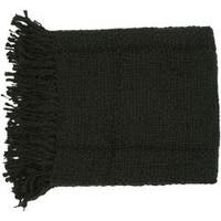Woven Ric Acrylic and Wool Throw Blanket