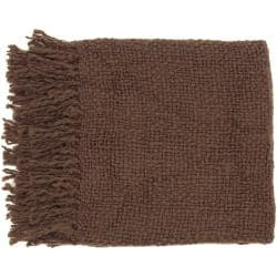 Woven Tufts Acrylic and Wool Throw Blanket