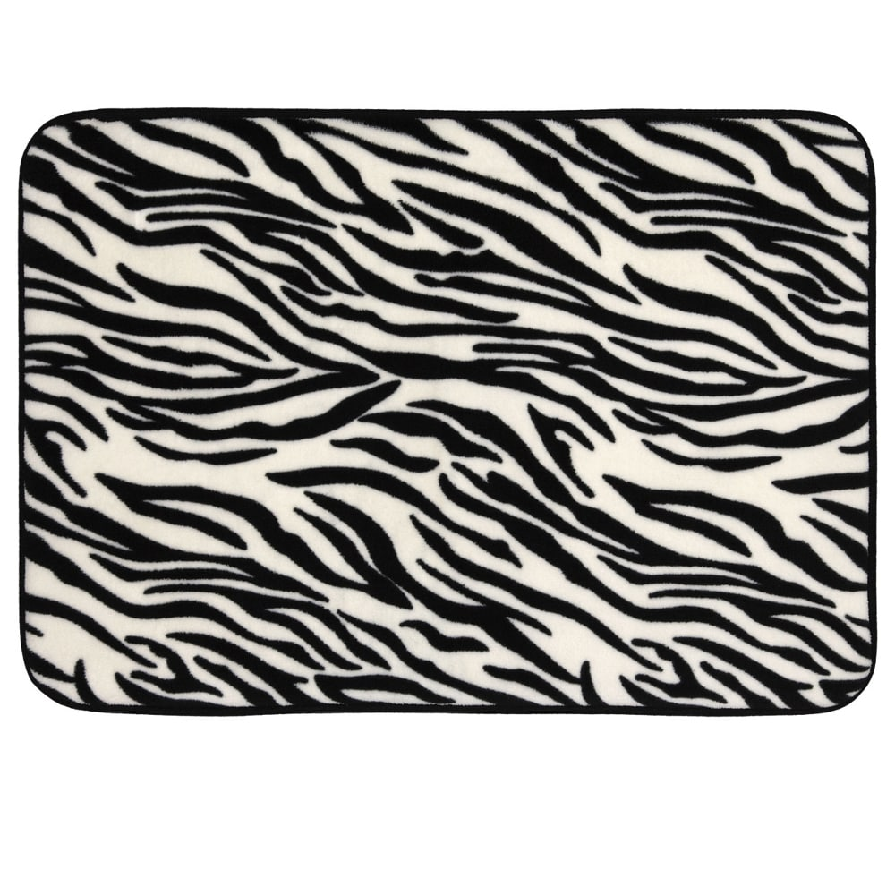 Zebra Bathroom Rug Zebra Print Memory Foam 17 X 24 Bath Mat Free Shipping On Orders