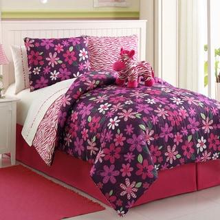 VCNY Zebra Reversible 4-piece Comforter Set
