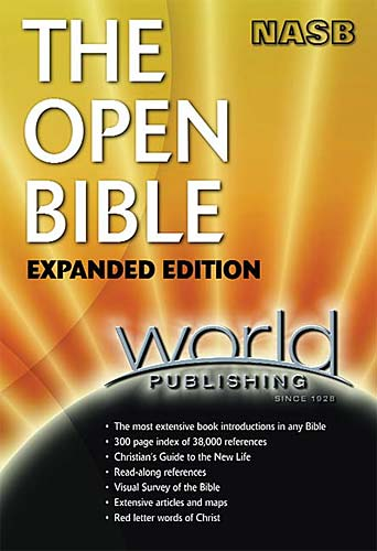 The Open Bible Expanded Edition NASB 1985 World Publishing Hardcover 1355 Pages