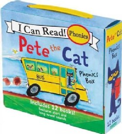 Pete the Cat Phonics Box: Includes 12 Mini-books Featuring Short and Long Vowel Sounds (Paperback)