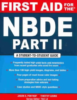 First Aid for the NBDE (Paperback)