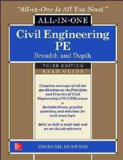 Civil Engineering PE All-in-One Exam Guide: Breadth and Depth (Hardcover)