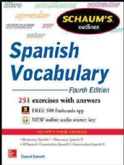 Schaum's Outlines Spanish Vocabulary (Paperback)