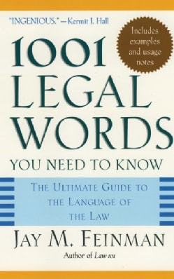 1001 Legal Words You Need To Know (Paperback)