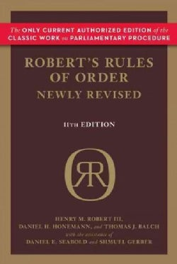 Robert's Rules of Order (Paperback)