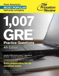 The Princeton Review 1,007 Gre Practice Questions (Paperback)