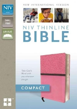Holy Bible: New International Version, Pink / Brown Italian Duo-Tone, Thinline Bible (Paperback)