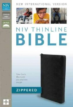 Holy Bible: New International Version, Black, Bonded Leather, Zippered, Thinline (Paperback)