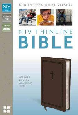 Holy Bible: New International Version, Chocolate, Italian Duo-Tone, Thinline Bible (Paperback)