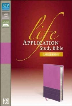 Life Application Study Bible: New International Version, Dark Orchid / Plum, Italian Duo-Tone (Paperback)