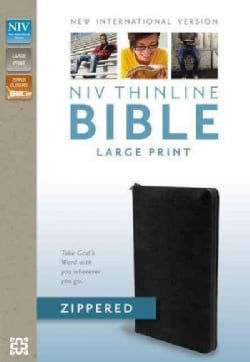 Holy Bible: New International Version, Black, Bonded Leather, Zippered, Thinline Bible (Paperback)