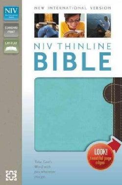 Holy Bible: New International Version, Chocolate / Turquoise, Italian Duo-Tone, Thinline Bible (Paperback)