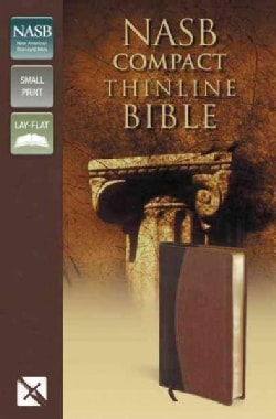 Holy Bible: New American Standard Bible, Mahogany / Chocolate, Italian Duo-Tone, Thinline Bible (Paperback)
