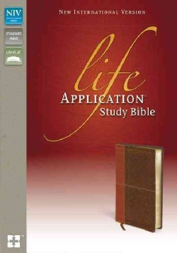 Life Application Study Bible: New International Version, Caramel / Dark Caramel, Italian Duo-Tone (Paperback)