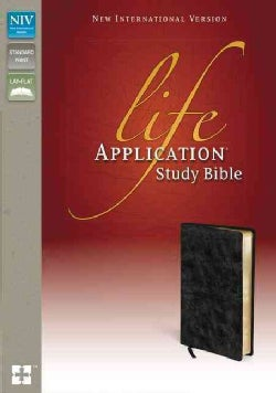 Life Application Study Bible: New International Version Distressed Black Bonded Leather (Paperback)