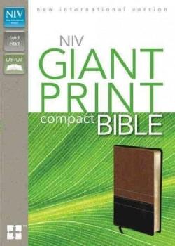 Holy Bible: New International Version, Sierra / Black, Italian Duo-Tone, Giant Print (Paperback)