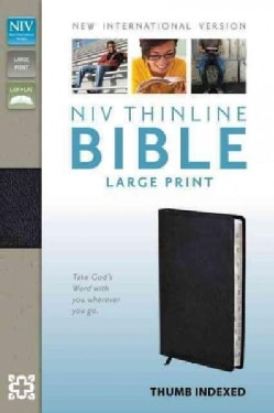 Holy Bible: New International Version Black Bonded Leather Thinline (Paperback)