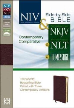 Holy Bible: New International Version & New King James Version & New Living Translation & The Message Burgundy Bo... (Paperback)