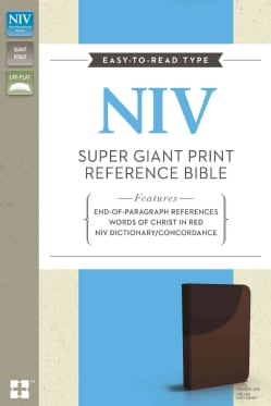 Holy Bible: New International Version, Chocolate Italian Duo-Tone, Super Giant Print Reference Bible (Paperback)