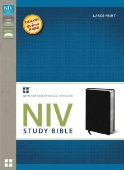 Niv Study Bible: New International Version, Black, Bonded Leather (Paperback)
