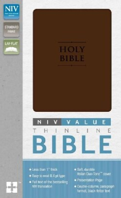 Holy Bible: New International Version Chocolate, Italian Duo-Tone Premium Value Thinline Bible (Paperback)