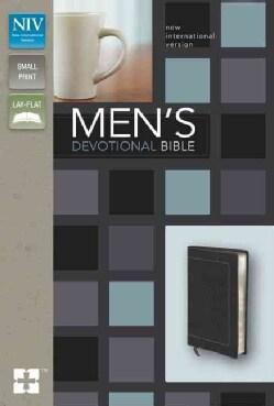 Men's Devotional Bible: New International Version Black Italian Duo-Tone (Paperback)