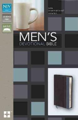 Men's Devotional Bible: New International Version, Charcoal / Steel Blue Italian Duo-Tone (Paperback)