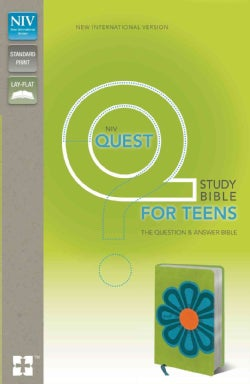 Quest Study Bible for Teens: The Question & Answer Bible: New International Version Kiwi / Caribbean Blue Italian... (Paperback)