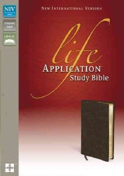 Life Application Study Bible: New International Version, Distressed Brown, Bonded Leather (Paperback)