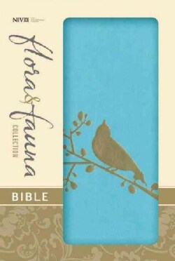 Holy Bible: New International Version, Turquoise / Gold Bird, Italian Duo-Tone, Thinline, Flora & Fauna Collection (Paperback)
