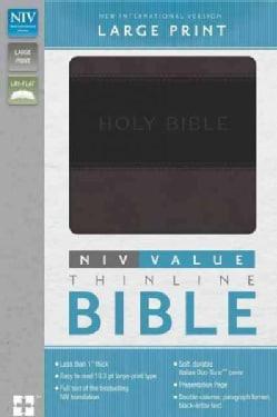 Holy Bible: New International Version, Charcoal / Black, Italian Duo-Tone, Thinline (Paperback)