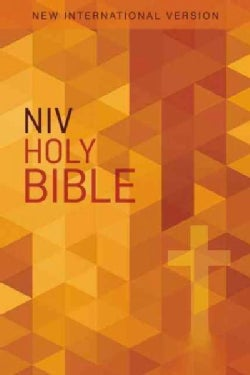Holy Bible: New International Version, Orange Cross (Paperback)