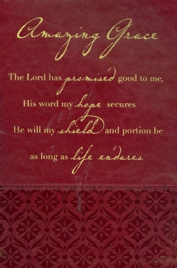 Amazing Grace Rich Red Book & Bible Cover, Large (General merchandise)