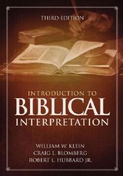 Introduction to Biblical Interpretation (Hardcover)