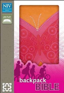 Holy Bible: New International Version Flutter Pink Italian Duo-Tone Backpack Bible (Paperback)