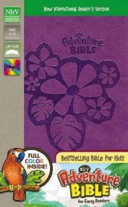 Holy Bible: New International Reader's Version, New Adventure Bible, Tropical Purple, Italian Duo-Tone  (Paperback)